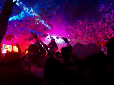 A Night In Rome : Crowd dancing in a night club