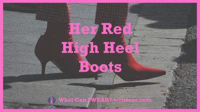 Her Red High Heel Boots