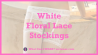 White Floral Lace Stockings